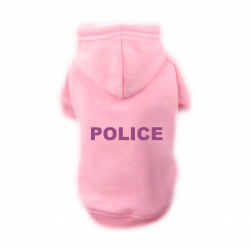 Sweat Relax rose pour chien POLICE