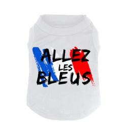 T-shirt Pour chien Bleu Blanc Rouge