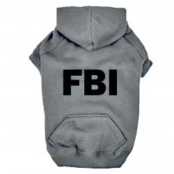 Sweat  Gris pour chien FBI