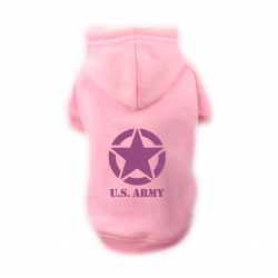 Sweat Relax rose pour chien US ARMY