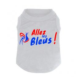 T-shirt Pour chien Allez les Bleus