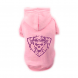 Sweat Relax rose pour chien  BIKERS