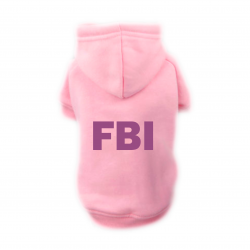 Sweat Relax rose pour chien FBI
