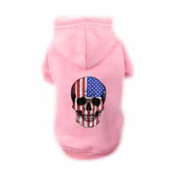 Sweat Relax rose pour chien SKULL USA