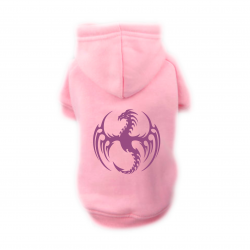 Sweat Relax rose pour chien Dragon