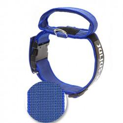 Collier en nylon avec poignée Julius-K9 Bleu
