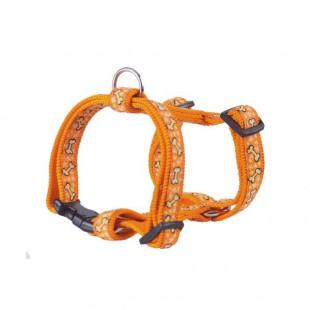 Harnais Nylon os orange pour chiens