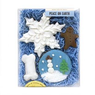 Boite de petits gâteaux étoile des neiges
