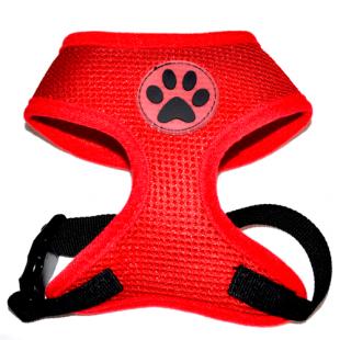Harnais Dog Paw Rouge pour chiens