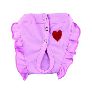Culotte hygiénique mon petit cœur rose pour chiens