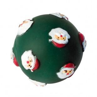 Jouet vinyle Balle Père Noël sonore