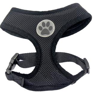 Harnais Dog Paw Noir pour chiens