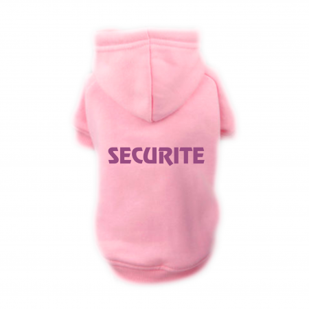 Sweat Relax rose pour chien SECURITE