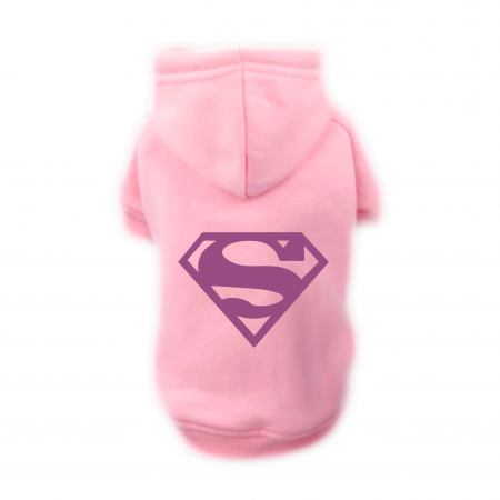 Sweat Relax rose pour chien SUPER DOG